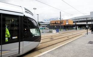 Le terminus de la ligne T2, à l'aéroport Toulouse-Blagnac
