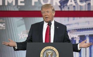 Donald Trump s'exprime à la conférence CPAC, dans le Maryland, le 23 février 2018