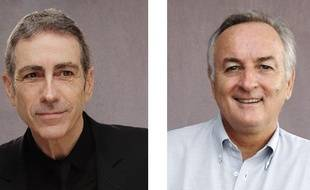 Alain Chamfort, artiste et membre du conseil d'administration de la Sacem, et Bernard Miyet, président du directoire de la Sacem.