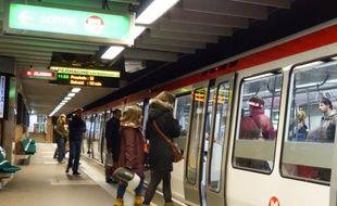 Illustration du métro à Lyon.