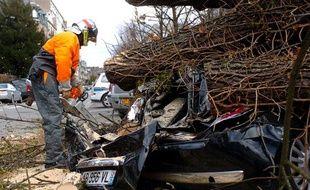 A Strasbourg aussi la tempête Xynthia a fait des dégâts, le 28 février 2010.