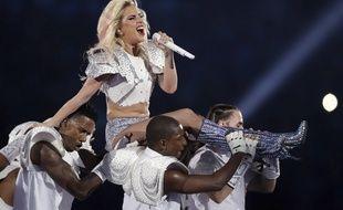 Lady Gaga a lors de son show à la mi-temps du Super Bowl