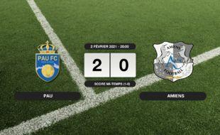 Ligue 2, 23ème journée: Succès 2-0 de Pau face à Amiens