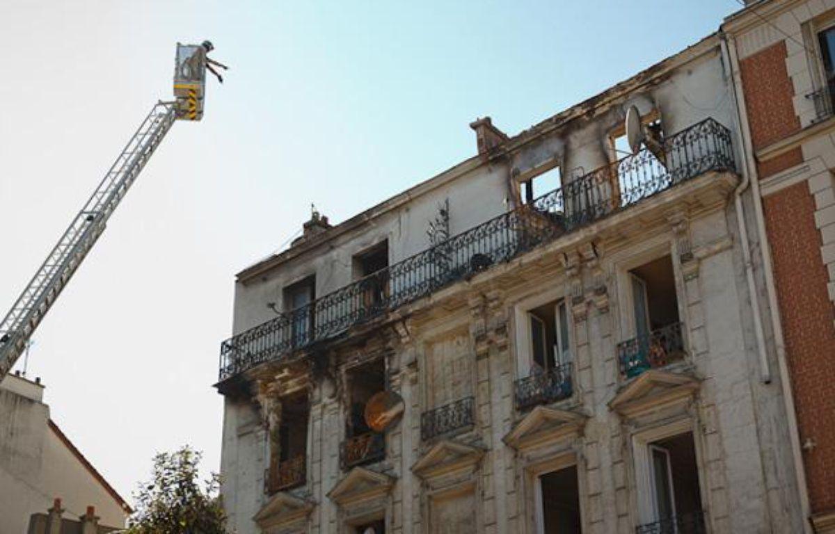 L'immeuble de la rue Gabriel Péri, à Saint-Denis, où un incendie a fait deux morts dans la nuit de samedi à dimanche 9 septembre 2012 – A. GELEBART / 20 MINUTES