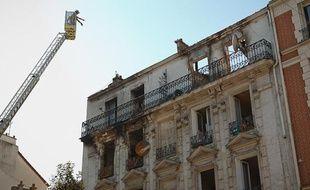 L'immeuble de la rue Gabriel Péri, à Saint-Denis, où un incendie a fait deux morts dans la nuit de samedi à dimanche 9 septembre 2012