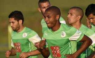 Le milieu de terrain de l'équipe d'Algérie Yacine Brahimi, le 23 juin 2014, à Sorocaba, au Brésil.
