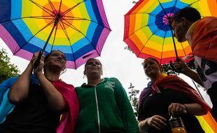 Image de la Marche des fiertés LGBT à Lyon le 15 juin 2019
