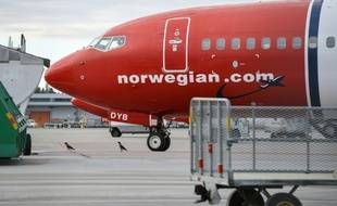 Un appareil de la compagnie low-cost Norwegian à l'aéroport d'Orlanda à Stockholm le 5 mars 2015