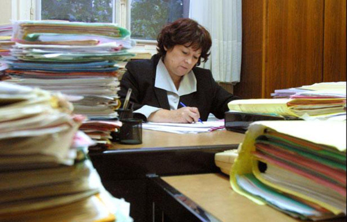 La juge Marie-Odile Bertella-Geffroy a mis Jean-Luc Pasquier en examen le 8 mars 2012. – THOMAS COEX / AFP
