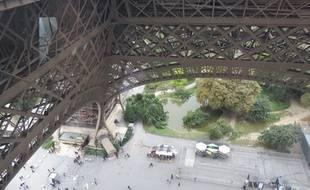 Paris, le 6 octobre 2014, La Tour Eiffel vu du 1e étage