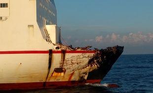 Désincarcération au Cap Corse suite à la collision entre le Ro-ro Ulysse et le cargo chypriote Virginia.