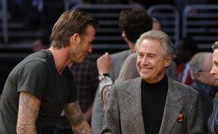 Philip Anschutz avec David Beckham à Los Angeles.