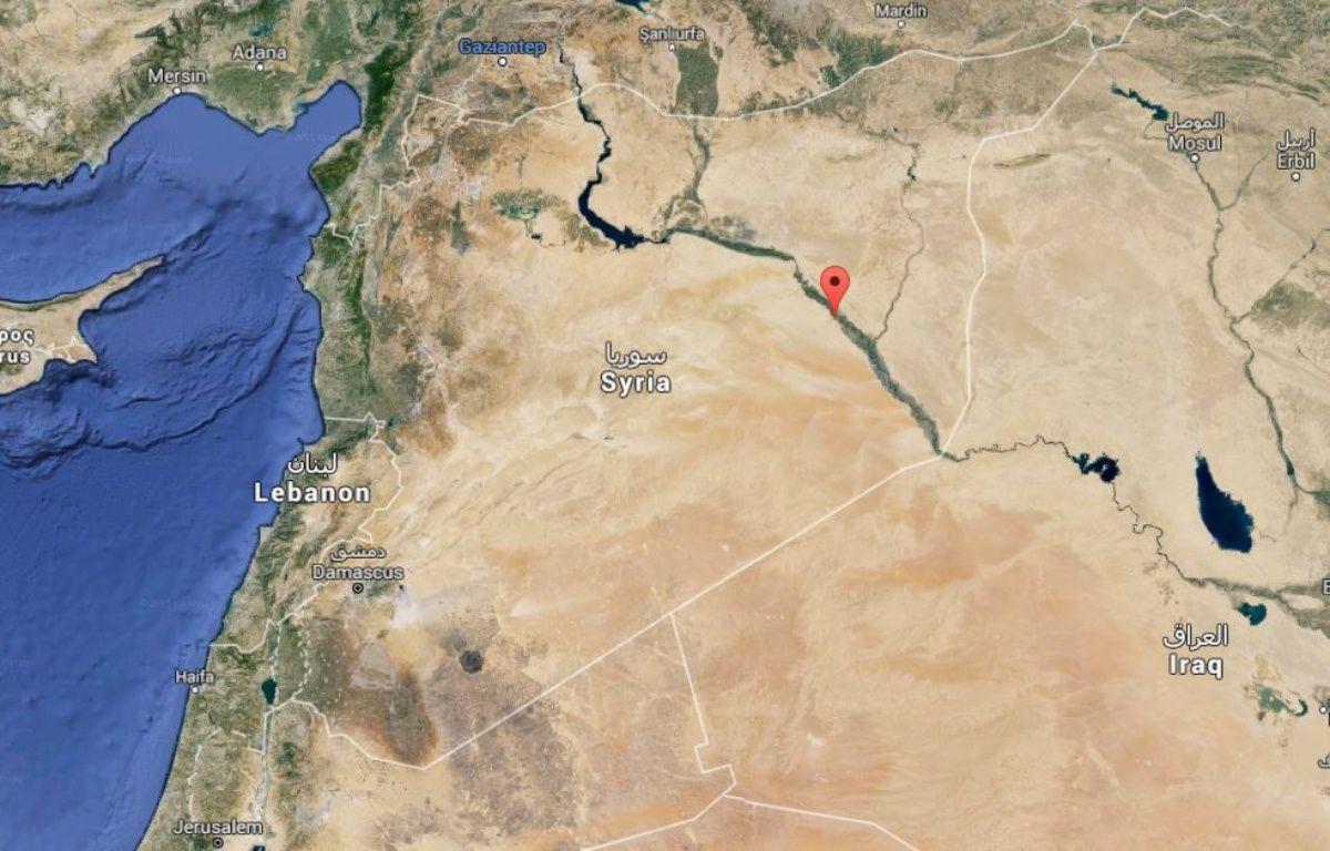 La ville de Deir Ezzor, dans l'est de la Syrie. – Google Maps