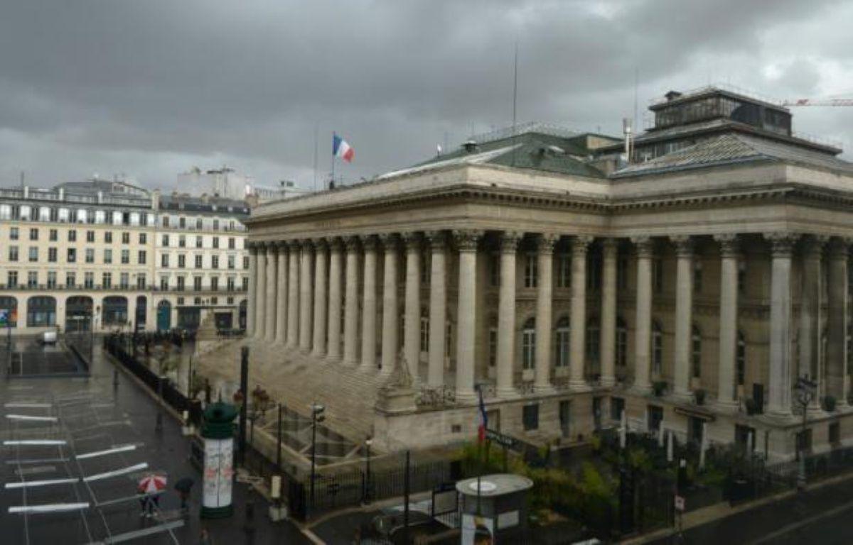 Le palais Brongniart, ex-Bourse de Paris, le 24 août 2015 – ERIC PIERMONT AFP