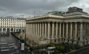 Le palais Brongniart, ex-Bourse de Paris, le 24 août 2015