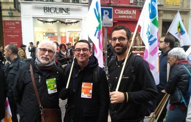 Professeurs en collège, Jean-François, Florent, et Benoît sont venus d'Istres pour manifester.