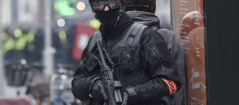 """Une intervention policière lors d'une manifestation de """"gilets jaunes"""". Illustration"""