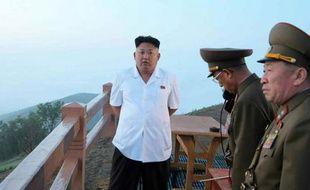Photo du dirigeant nord-coréen Kim Jong-Un distribuée le 30 juin 2014 par l'agence de presse nord-coréenne