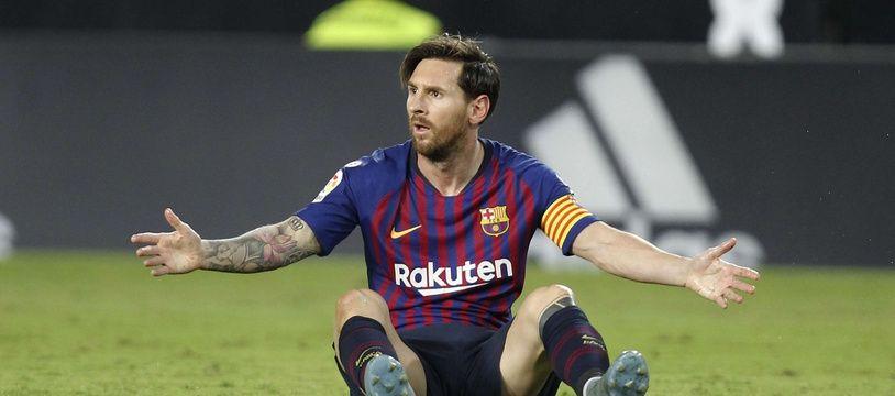 Le joueur de football argentin Lionel Messi.