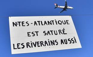 Lors d'une manifestation de riverains de l'aéroport en janvier 2018, à Saint-Aignan de Grand Lieu