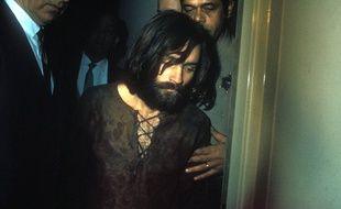 Le tueur Charles Manson lors de son arrestation