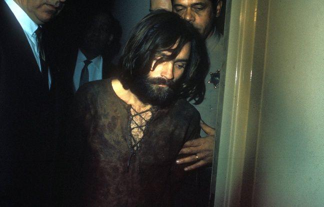 Le tueur de masse Charles Manson lors de son arrestation