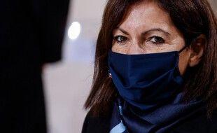 La maire de Paris, Anne Hidalgo, au Panthéon, lors des commémorations du 11-Novembre en 2020.