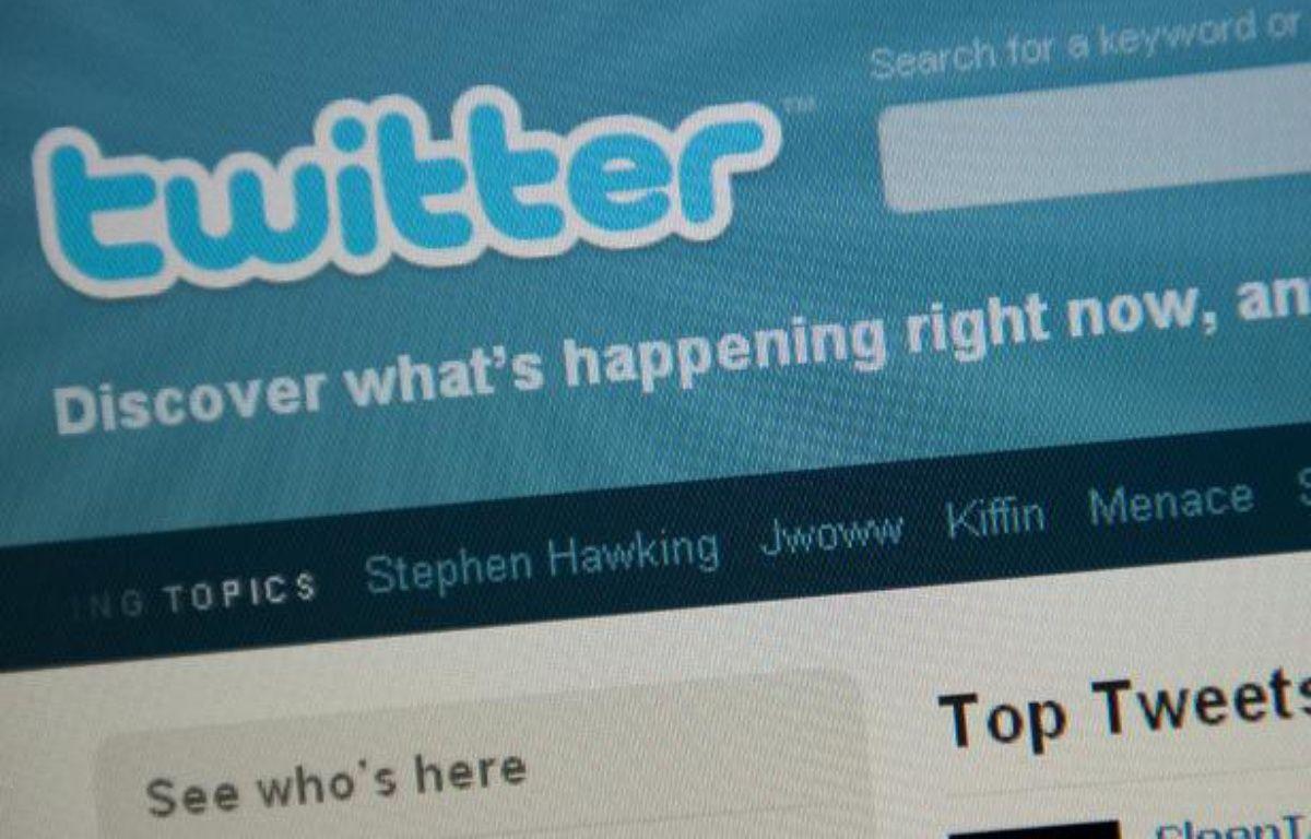 Le site de micro-blogging Twitter. – NICHOLAS KAMM / AFP