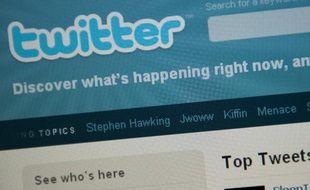 Le site de micro-blogging Twitter.