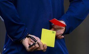 Un arbitre durant un séminaire des arbitres de Coupe du monde de la Fifa à Zurich, le 27 mars 2014.