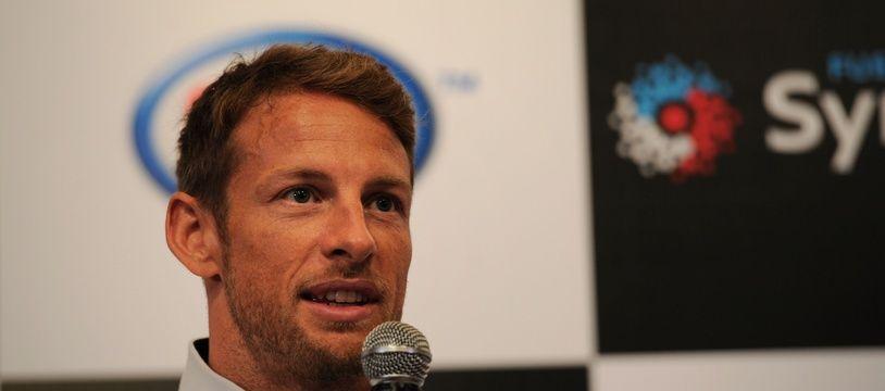 Jenson Button en conférence de presse avant le GP de Singapour, le 16 septembre 2015.