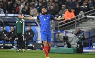 Olivier Giroud s'est blessé lors de France-pays de Galles et est forfait pour le match amical en Allemagne, le 14 novembre 2017.