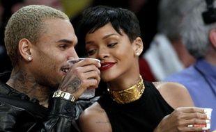 Rihanna et Chris Brown à Los Angeles en 2012.