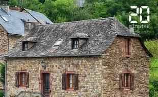 Illustration d'une maison traditionnelle en pierre