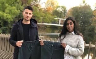 Kavi Satch et Sofiane Rahmani avec leur jean intitulé