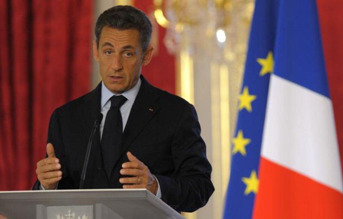 Nicolas Sarkozy, le 31 août 2011, lors de la conférence annuelle des ambassadeurs de France, à Paris. – P.WOJAZER / REUTERS