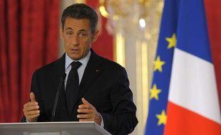 Nicolas Sarkozy, le 31 août 2011, lors de la conférence annuelle des ambassadeurs de France, à Paris.