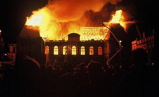 Le Parlement de Bretagne, à Rennes, a été ravagé par un incendie en 1994