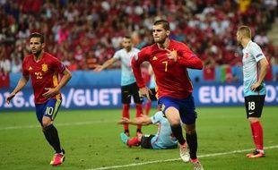 Morata inscrit un but face à la Turquie.