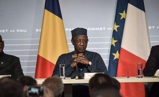 Le président tchadien Idriss Déby Itno lors du sommet G5 Sahel, le 13 janvier 2020 à Pau.