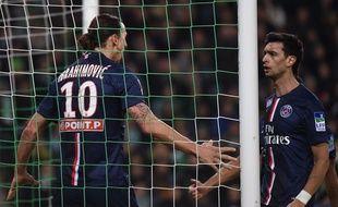 Ibrahimovic soulage le PSG, le 12 janvier 2014 à Saint-Etienne.