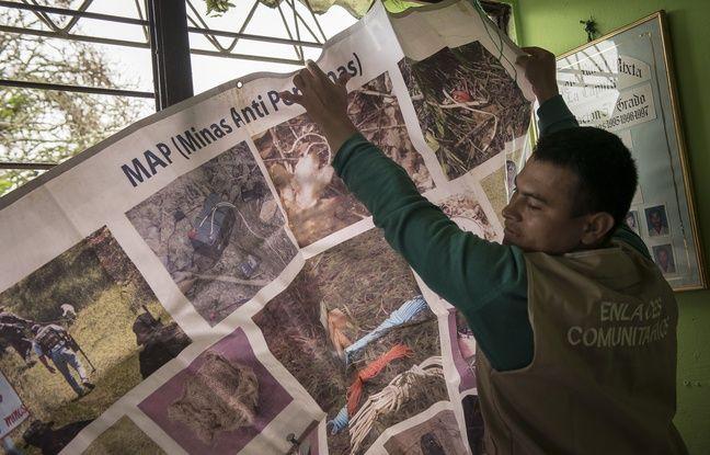 Esteban, 26 ans, victime d'une mine antipersonnelle travaille aujourd'hui pour Handicap International.