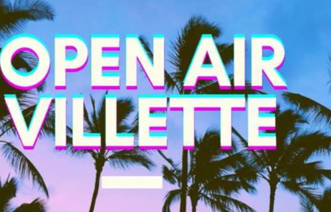 Des palmiers et un ciel tropical pour teaser l'open air de la Guinguette Villette