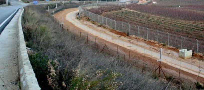 Frontière entre le Liban et l'Israël au niveau de la ville israélienne de Metoullah (nord).