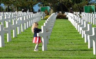 Le cimetière américain de Normandie à Colleville-sur-Mer, le 24 septembre 2018.