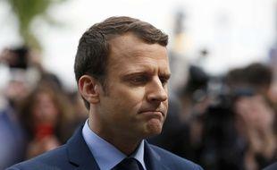 Le candidat à la présidentielle Emmanuel Macron, le 24 avril 2017 à Paris