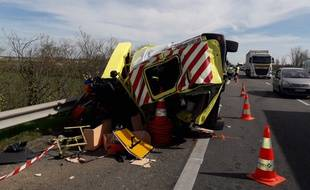 Un fourgon de Vinci Autoroutes a été percuté sur l'A62, le patrouilleur ne se trouvait pas à l'intérieur.