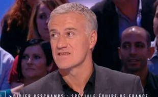 Didier Deschamps sur le plateau de Canal +, le 12 décembre 2014.