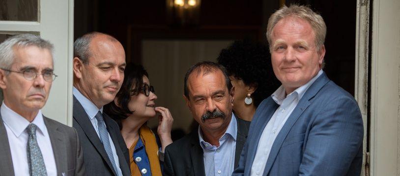 Yves Veyrier (FO), Laurent Berger (CFDT), Philippe Martinez (CGT) et Francois Hommeril (CFE-CGC). (archives)