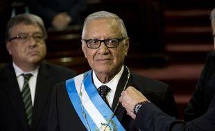Alejandro Maldonado devient président provisoire du Guatemala, le 3 septembre 2015.